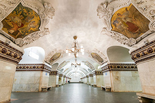 El famoso metro de Moscú