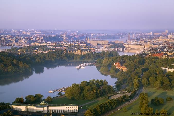 Estocolmo a vista de pájaro