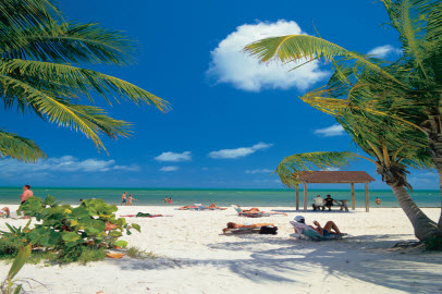 La playa paradisíaca
