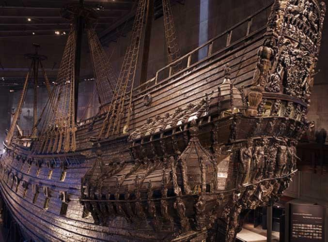 El barco del siglo XVII (el Museo Vasa)