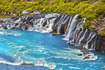 Islandia - Hraunfossar