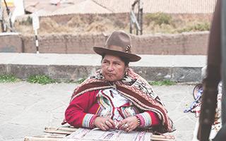 Mujer en Cuzco