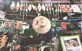 Mercado en Bangkok