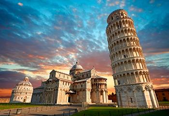 Torre de Pisa y Baptisterio