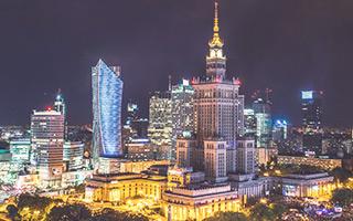 Varsovia de noche